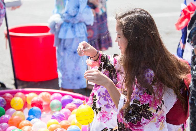 student at summer festival